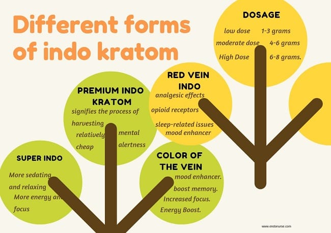 Different forms of indo kratom